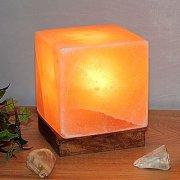 Salzkristalllampe Kubus in Würfelform, sehr edel