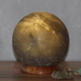 Planet Grey Salzkristall-Kugel grau