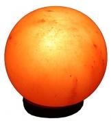 Salzkristalllampe Kugel 3-5 kg beleuchtet