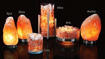 Salzkristall-Nachttischlampe Übersicht