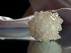 Salzkristall weiß